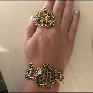 Betsey Johnson Jewelry - Betsey Johnson leopard heart ring
